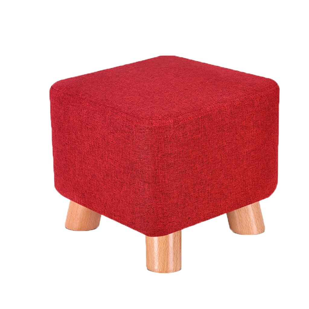 B Solid wood stool small bench sofa stool round stool fashion creative (color   E)