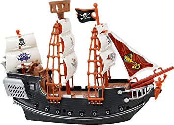 Amazon.com: Srenta - Barco pirata, barco oceánico de 10.0 in ...