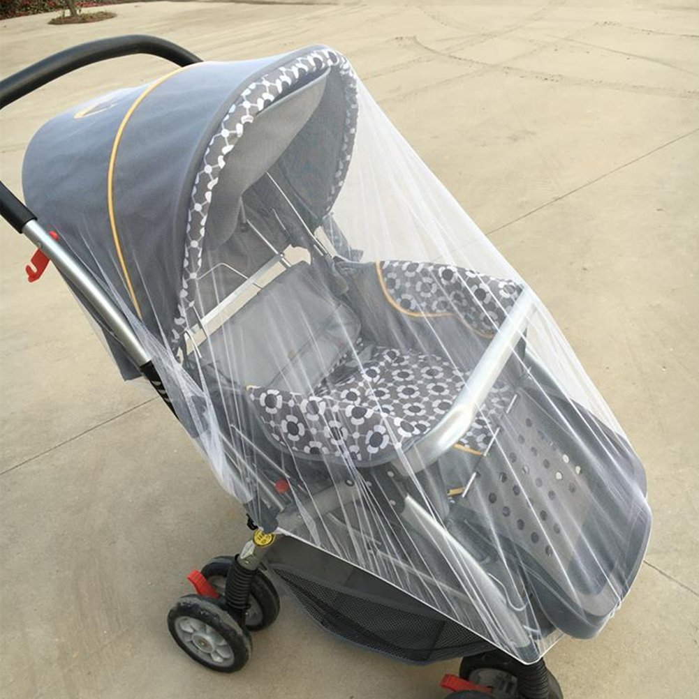 Sunshine D Baby Mosquito Net, Mosquito Net Stroller Infant Insect Net Mesh White Bee Insect Bug Cover for Prams and Pushchairs Baby Buggies Car Seats Moses Basket Prams and Travel Cots