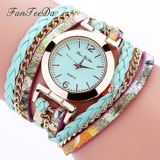 Para mujer pulsera relojes, tecla de venta aclaramiento Lady relojes mujeres relojes baratos Relojes para las mujeres aa-08: Amazon.es: Relojes