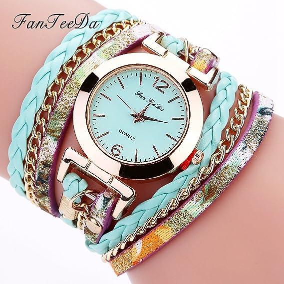 Para mujer pulsera relojes, tecla de venta aclaramiento Lady relojes mujeres relojes baratos Relojes para