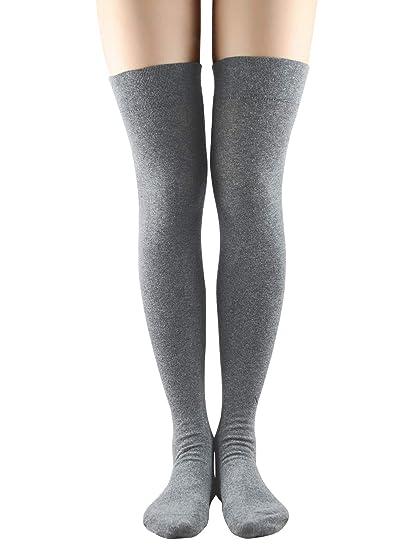 daa1e527df4 Women Non Slip Thigh High Socks Fashion Tube Stockings above Knee Cosplay  Socks at Amazon Women s Clothing store
