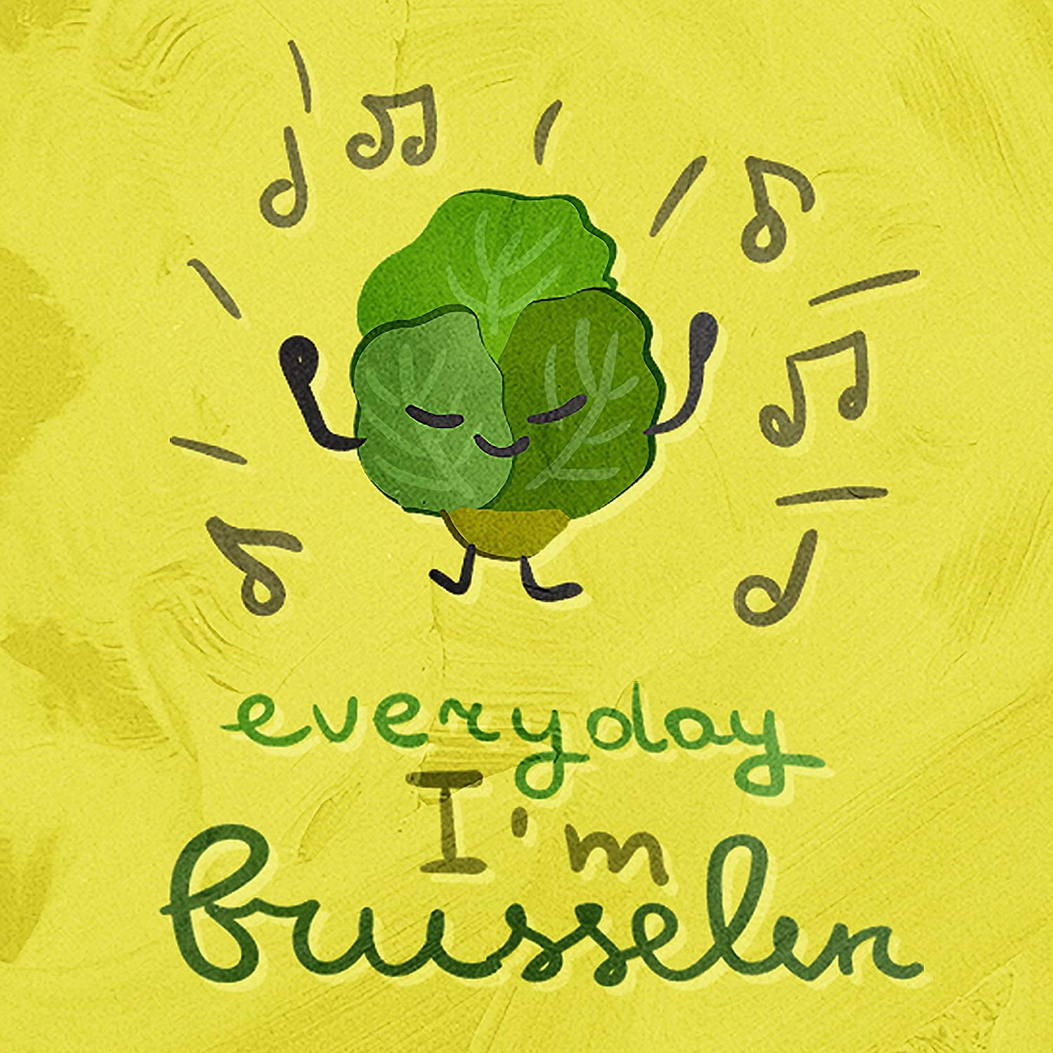 Wall Decor Sign Everyday I'm Brusselin Brussel Sprout Kitchen Pun Metal Tin Sign Post House Home Plaque