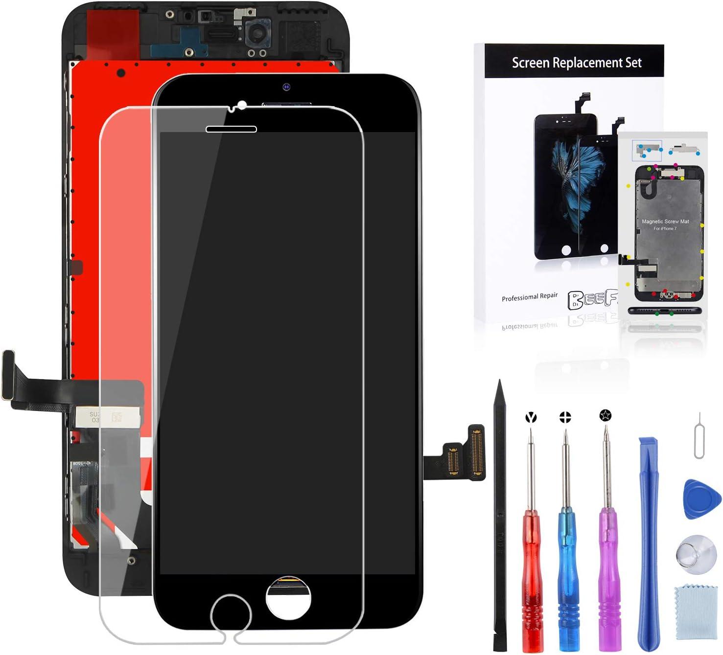 GLOBALGOLDEN Ecran de Remplacement pour iPhone 6 Plus Blanc LCD Display Ecran Tactile Digitizer 5.5 Pouces Cadre Ensemble avec Outils de R/éparation
