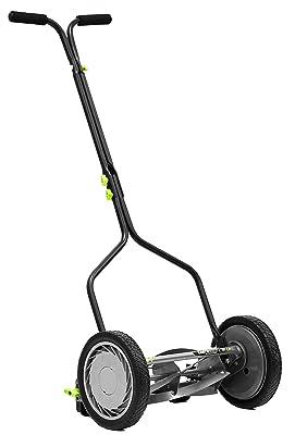 Earthwise 1314-14EW 14-Inch, 5-Blade Push Reel Lawn Mower, 14-Inch, 5-Blade Grey
