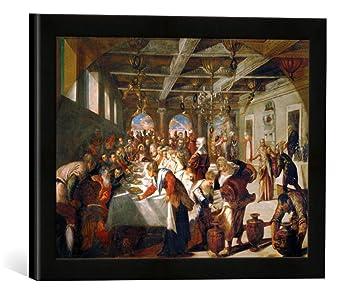 Amazon De Gerahmtes Bild Von Jacopo Robusti Tintorettodie Hochzeit