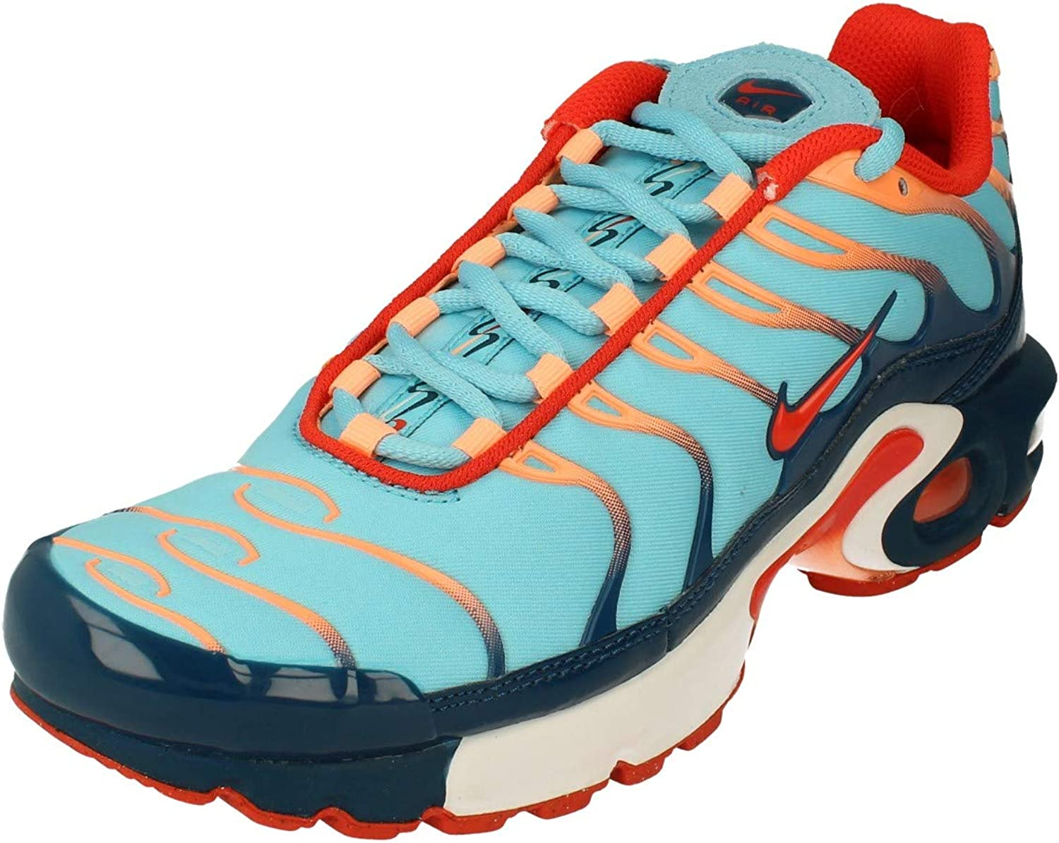 Amazon.com   Nike Air Max Plus GS Running Trainers CQ4816 Sneakers Shoes  (UK 6 US 6.5Y EU 39, Blue Force Team Orange 400)   Fashion Sneakers