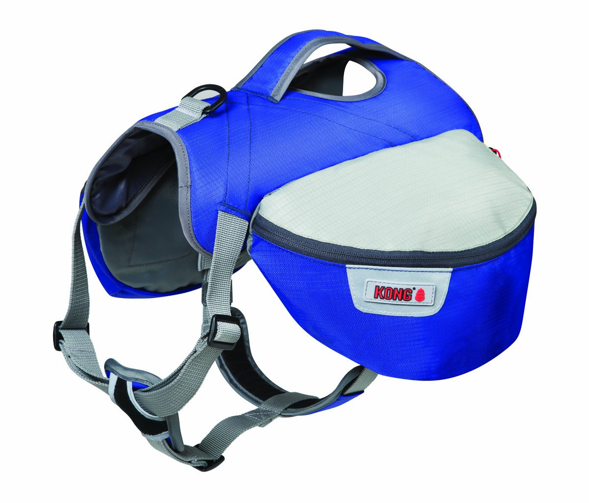 Future Sports Products International KONG SPORT Trek Travel Pack for Dogs, Medium, Blue/Silver