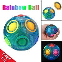 World Debut - Luminous Magic Rainbow Ball Cube Fidget Puzzle Education Toy Best Gift for kids and children Teenagers Adults Stress Reliever BY UPXIANG (Magic Rainbow)