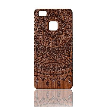Sunroyal® Funda Madera Huawei P9 Wooden de Bambú Natural de la ...