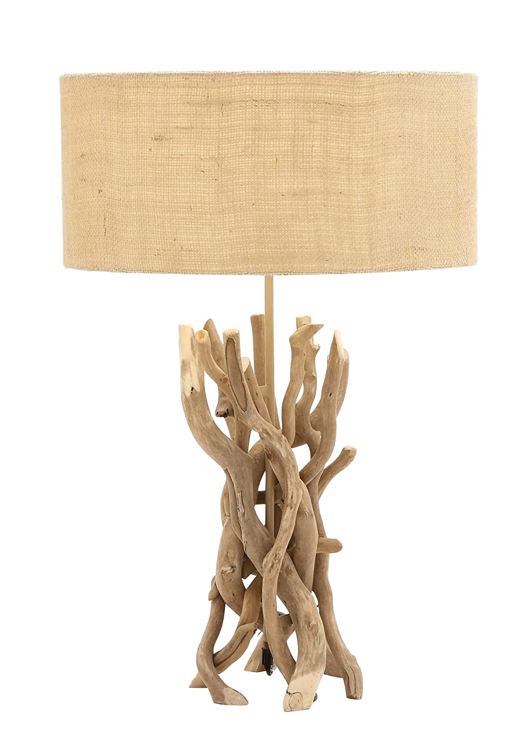 Amazon.com: Benzara 67711 The Cool Driftwood Metal Table Lamp: Home U0026  Kitchen