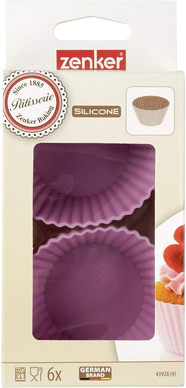 Zenker 43928 6 Muffin-F/örmchen Candy /Ø7cm Patisserie