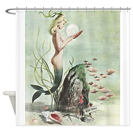 Amazon CafePress Retro Pin Up 1950S Mermaid With School Of Fish