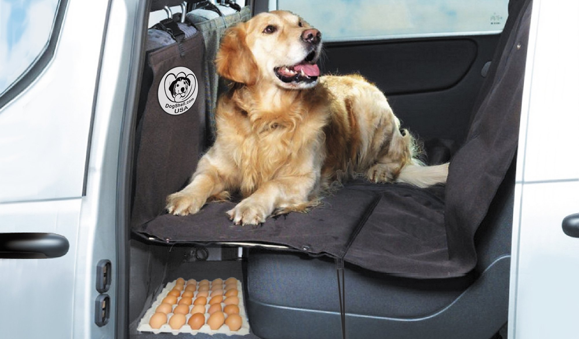 DogShell Car/SUV Dog Pet Heavy-Duty Back Seat Cover Extended Platform Bridge