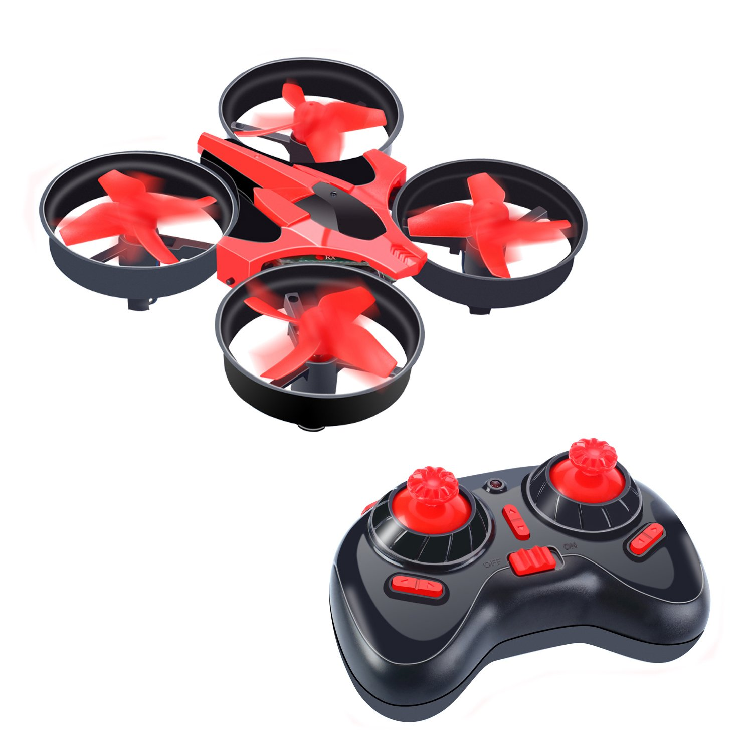Neecooler Mini RC Drone, UFO Quadcopter Drone RTF Helicopter 2.4G 4CH 6Axis Gyro with LED Lights and Remote Control