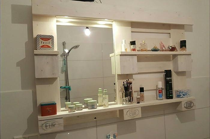 Tolles Regal aus Europalette mit Spiegel: Amazon.de: Handmade