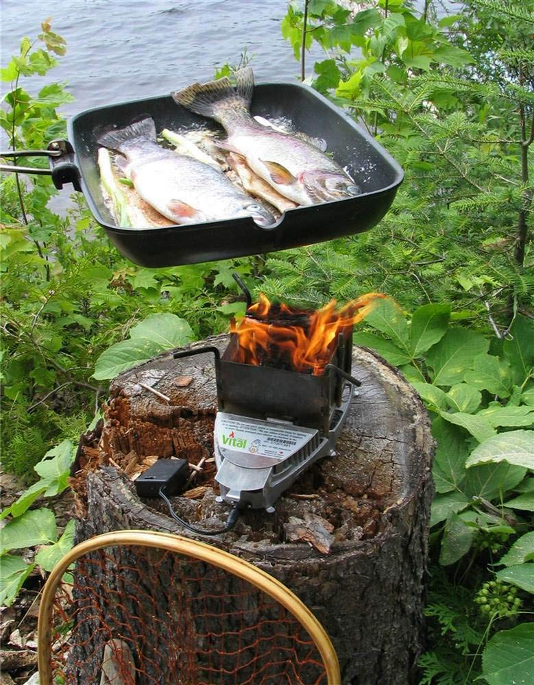ANA Store Courtyard Lightweight Biological Grill Cooker 20,000 Btu/hr Speedy Charged Biomass Cooking Stove Camping Picnic Hiking by ANA Store