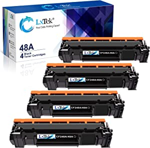 LxTek Compatible Toner Cartridge Replacement for HP 48A CF248A to use with Laserjet Pro M15w M29w M16w M28w M15a M29a M16a M28a Printer, 4 Black, High Yield(with Chip)