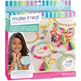 Make It Real - Neo-Brite Chains and Charms. DIY Gold Chain Charm Bracelet Making Kit for Girls. Arts and Crafts Kit to…