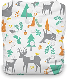 product image for Thirsties Natural One Size All in One Cloth Diaper, Snap Closure, Woodland