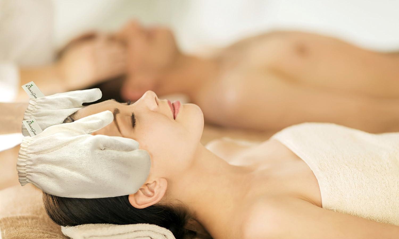GARSHANA Massage Gloves AYURVEDIC Treatment Exfoliating Skin Brushing Boosts Skin Glow Stimulates Blood Flow Improves Lymphatic Circulation Removes Toxins of RAW Silk Allure & Grace (Medium)