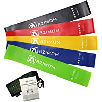 Azimom Resistance Loop Exercise Bands with Instruction Guide, Carry Bag, Set of 5