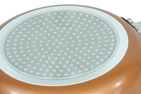 Löwenthal Juego de 3 sartenes cerámicas con Revestimiento Antiadherente sartenes para Todos los Tipos de Cocina/Inducción, Antiadherente, ...