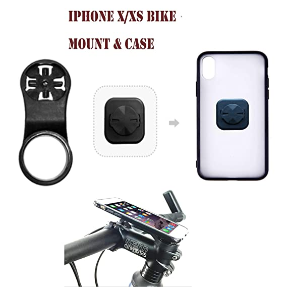 sale retailer 61d4f 926ca iPhone X & iPhone Xs Bike Phone Mount with Riding Case.Calmpal Stemcap Bike  Mount Cell Phone Holder with Riding Cycling Case for iPhone X(2017 ...