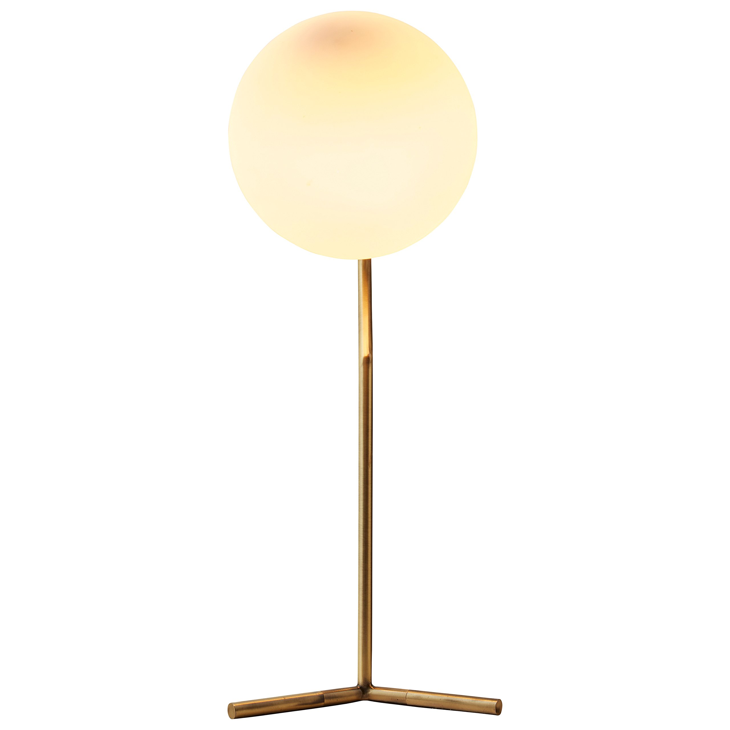Rivet Glass Ball and Angled Metal Table Lamp with Bulb, 21.5''H, Brass by Rivet (Image #5)