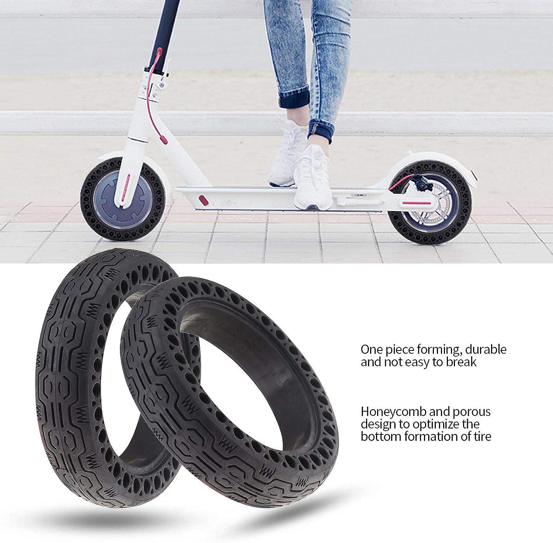 de goma para rueda hueca para scooter el/éctrico compatible con Xiaomi M365 Juego de 2 cucharas de neum/áticos y neum/áticos de 8,5 pulgadas