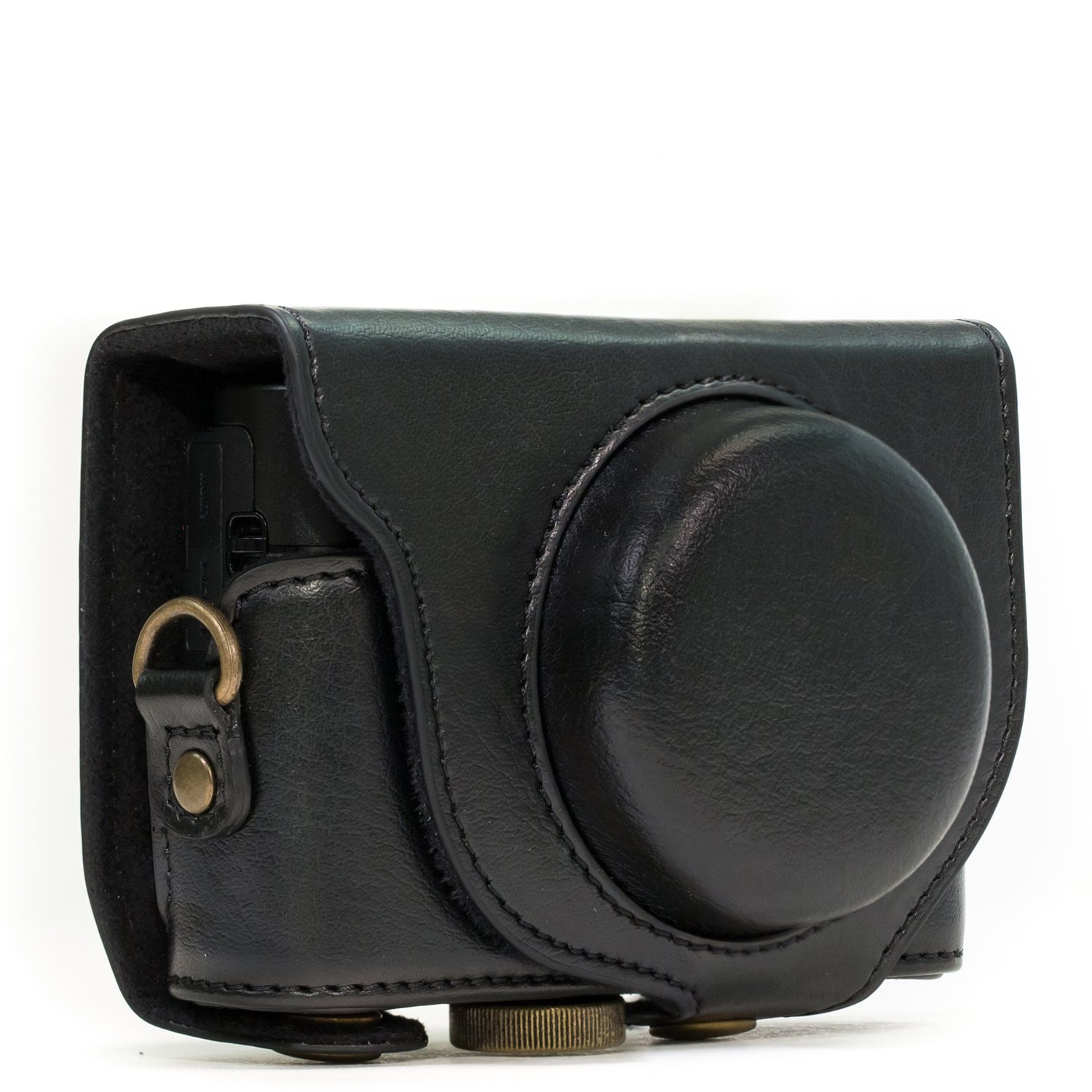 MegaGear Sony Cyber-shot DSC-RX100 III, DSC-RX100 IV, DSC-RX100 V Ever Ready Leather Camera Case with Strap