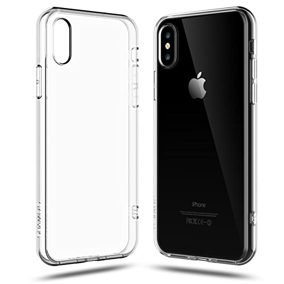 wholesale dealer dbee3 4f346 Shamo's iPhone X Case Clear Shock Absorption TPU Rubber Gel Silicone  Transparent with Smudge-Free Technology (Clear)