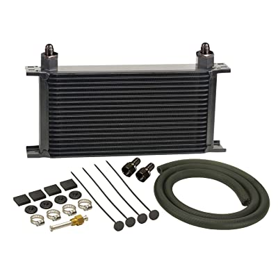 Derale 13403 Series 10000 Stacked Plate Transmission Oil Cooler 19 Row,Black: Automotive