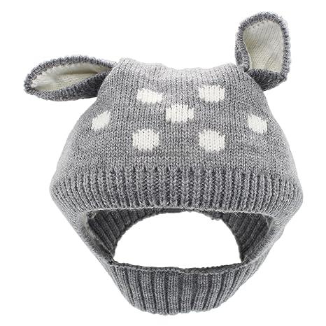 YOPINDO Cappello Invernale della Ragazza del Neonato Cappello di Beanie  Animale Caldo del Knit di Lana b410de730645