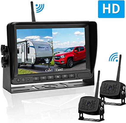 Digital Wireless Backup Camera and 7/'/'Monitor Kit System Kit for Car//RV//Picku...