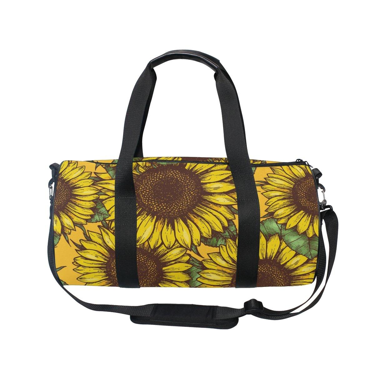 Cooper girl Summer Sunflowers Duffels Bag Travel Sport Gym Bag