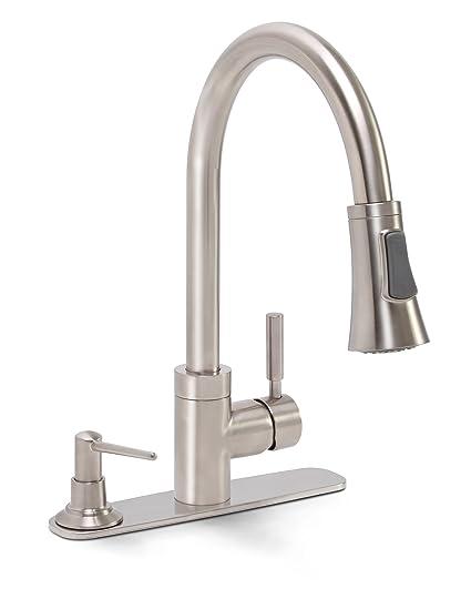 Attirant Premier 120077 Essen Lead Free Single Handle Pull Down Kitchen Faucet With  Soap