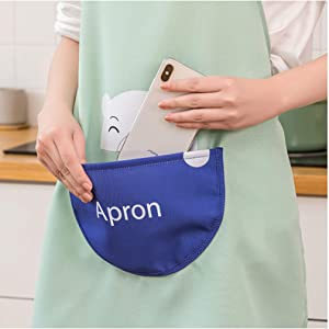 Gbziyjk Kitchen Apron for Women with Pocket Extra Large Adjustable,Garden Home BBQ Cafe Unisex Waterproof,Adult Chef Aprons,4 Colors,Beige