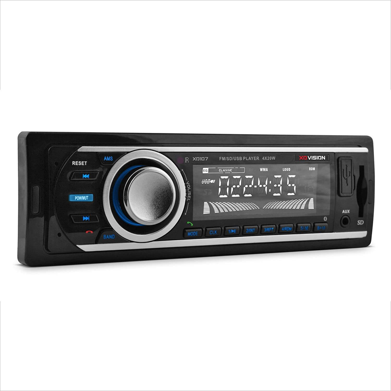 USB Port SD Card Slot Car Stereo ,BLACK XO Vision Wireless Bluetooth Car Stereo Receiver with 20 watts x 4 XD107 and MP3 and FM