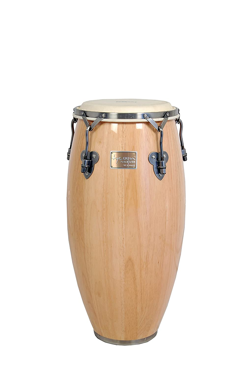 Tycoon Percussion 12 1/2 Inch Signature Classic Series Natural Tumba With Single Stand TSC-130 BC N/S