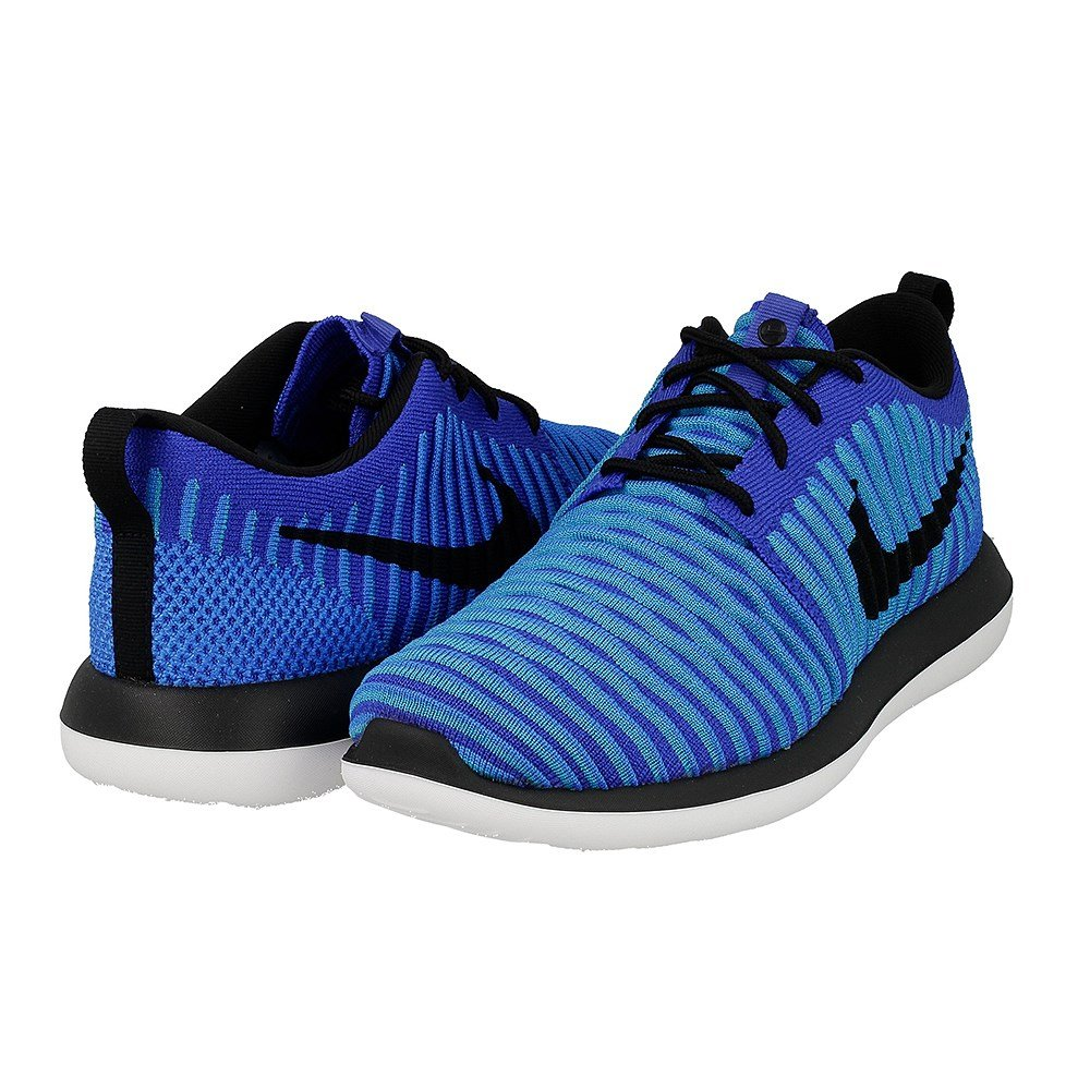 Nike - Roshe Two Flyknit - 844619400 - Color: Blue - Size: 7.0
