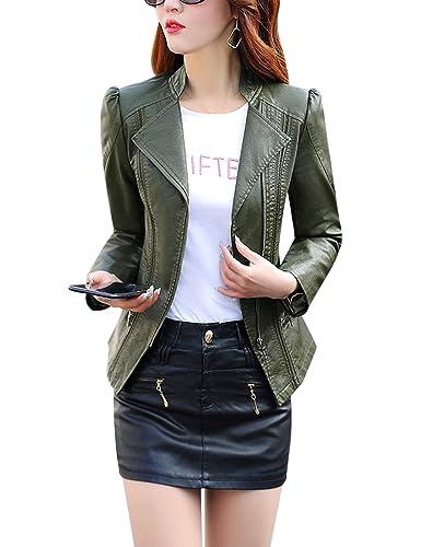 5 estilos de chaquetas de primavera en cuero para mujer  c5b9d968ffe7