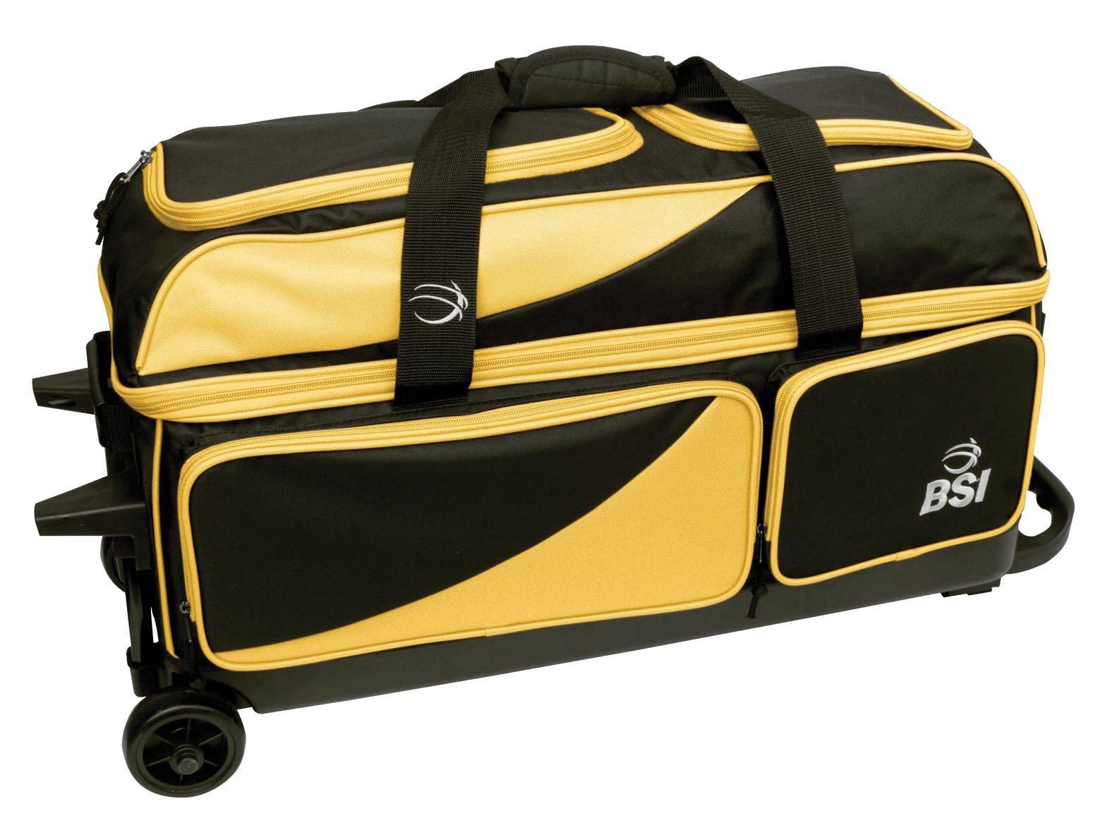 BSI Triple Ball Roller Bag, Black/Yellow
