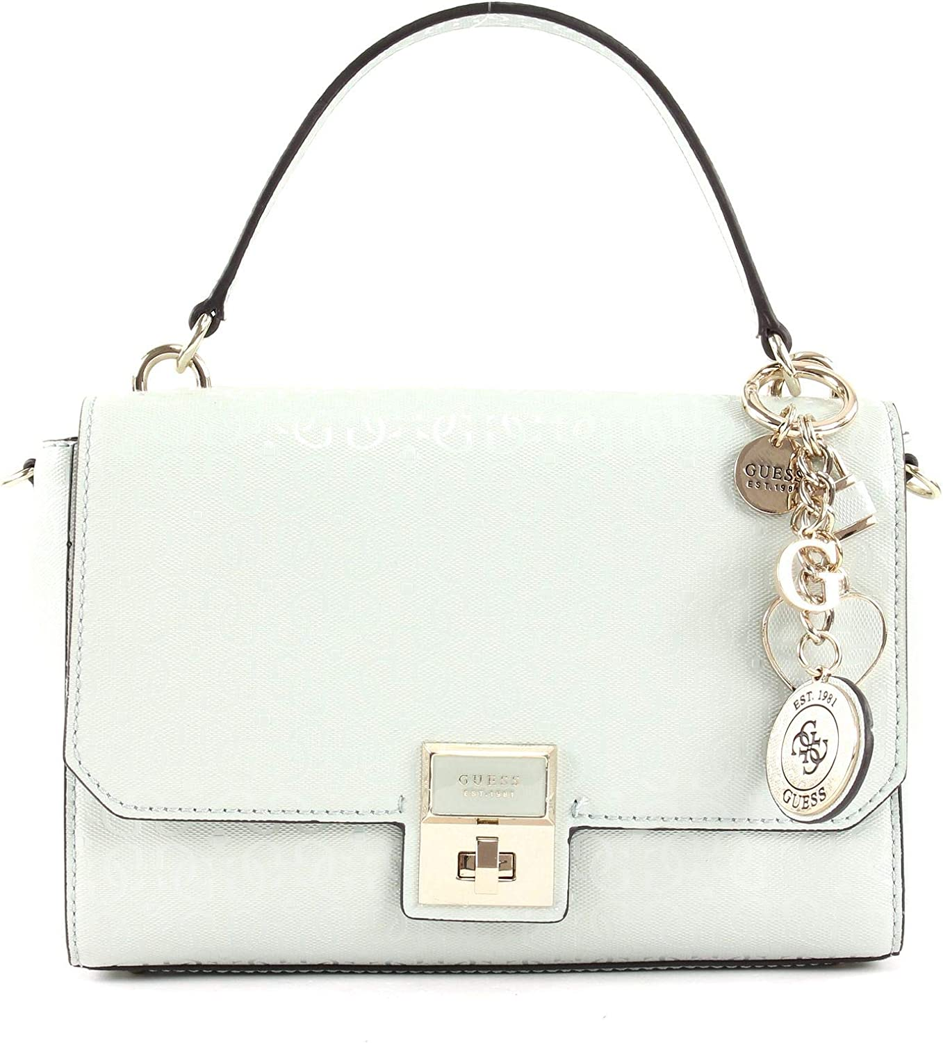 Guess Shannon Top Handle Flap Light Grey