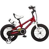 ROYALBABY(ロイヤルベイビー) 補助輪付き 子ども (幼児向け) 自転車 レッド  [メーカー保証1年]  フルカバーチェーンケース ボトル&ボトルケージ付属  RB-WE FREESTYLE