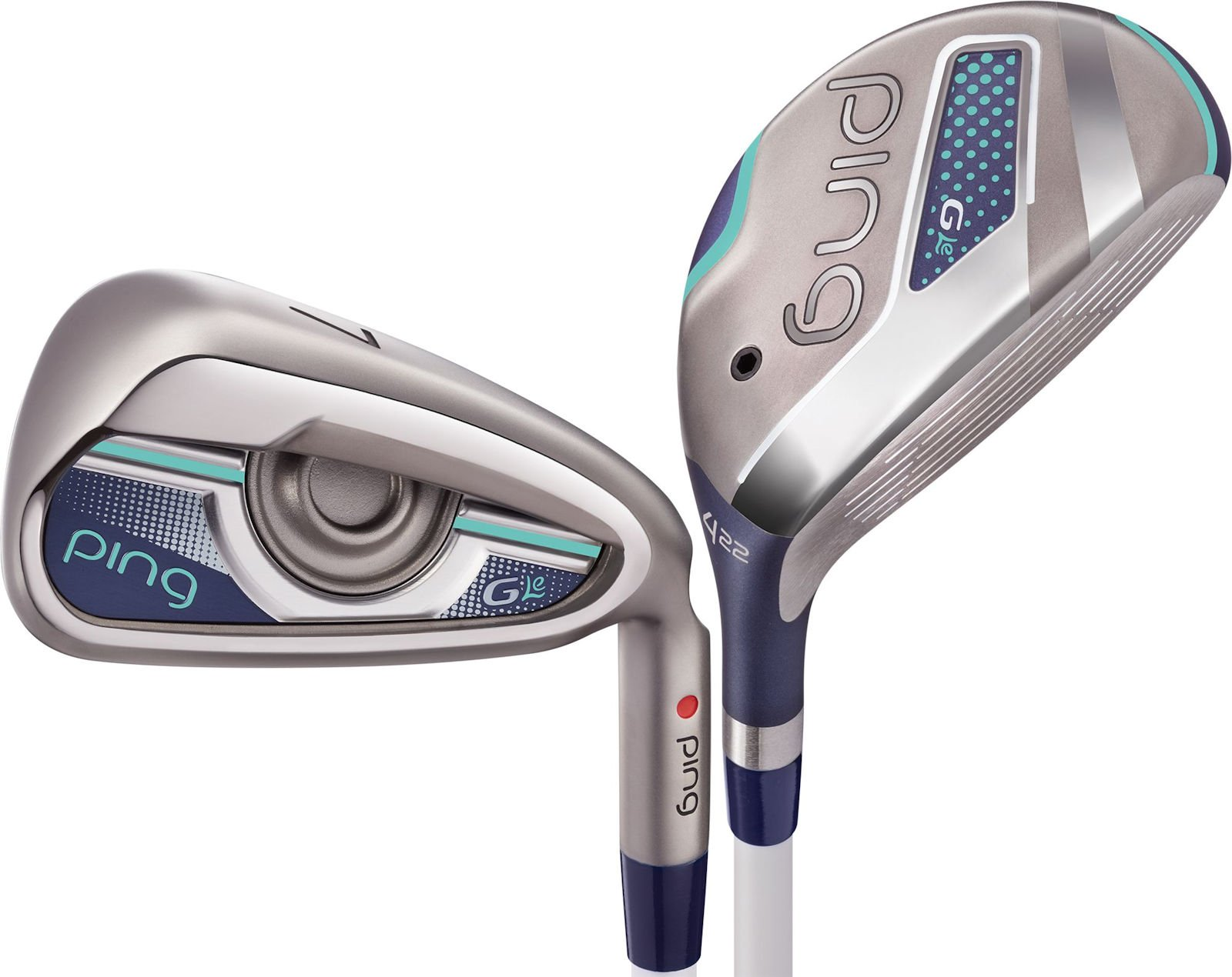 Ping Golf Women's G Le Hybrid and Iron Set, Right Hand, #4H, #5H, #6H, 7-9, Pitching & Sand Wedge