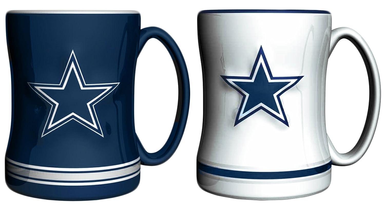 Nfl Dallas Cowboys 14 Oz Sculpted Ceramic Relief Coffee