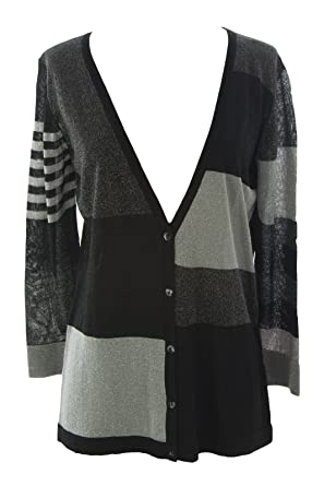 51cee1fddc2f August Silk Women s Silk Blend Colorblock Cardigan at Amazon Women s ...