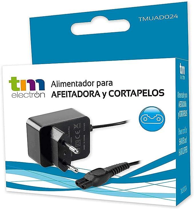 TM Electron TMUAD024 Fuente de Alimentación Cargador 5, 4W (15V/630Mah) para afeitadoras Philips Series Qp, PT, S, At, Rq, HS, Hq, Qt, Qc, Qs, S, Ys, Qg: Amazon.es: Salud y cuidado personal