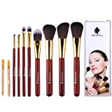 Amazon Price History for:MiroPure 8-Piece Kabuki Makeup Brush Set with Ear Pick and Acne Needle (Golden Carmine / Black)